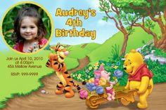 Winnie the Pooh Birthday Party Invitations 24 HOUR by Mrsinvites, $6.99