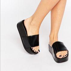 Platform sliders Size 9! Never worn! ASOS Shoes Platforms