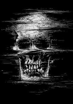 Skull - G l i t c h on Behance