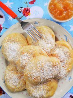 Sio-smutki: Pieczone racuchy drożdżowe z musem jabłkowym (bez ...