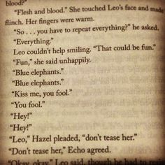 PJO- Heroes Of Olympus- The Mark Of Athena. Leo Being .... Leo...