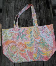 Shopping Tote Large-Eco Friendly-Grocery Bag-Diaper Bag-Beach Bag-Carry On-Library Tote-Craft Bag-Market Bag-Reusable-Washable-Pastel Paints by sewlittletime2009 on Etsy