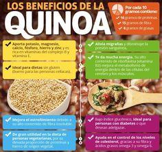 Beneficios de la QUINOA. http://www.1001consejos.com/propiedades-de-la-quinoa/