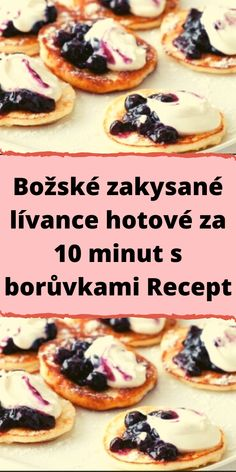 Sweet Desserts, Sweet Recipes, Good Food, Yummy Food, Czech Recipes, Easy Homemade Recipes, Food Design, Baking Recipes, A Table