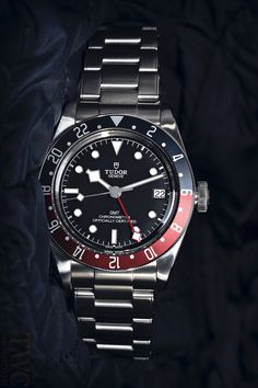 Shop for New Tudor Heritage Black Bay Pepsi Blue and Red Bezel Stainless Steel Automatic Black Dial Men's Watch at The Watch Company. Tudor Black Bay Red, Tudor Heritage Black Bay, Longines Watch Men, Diesel Watches For Men, Tudor Submariner, Relic Watches, Mens Digital Watches, Mens Designer Watches, Vintage Pocket Watch