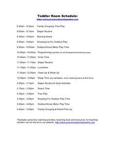 toddler-room-schedule-for by Preschool Learning Online.com via Slideshare