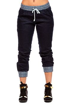 Womens Ladies Cool Dance Two Toned Cuffed Joggers Pants Bottoms gy01 (S, Dk.Blue) GY Designed in Los Angeles http://smile.amazon.com/dp/B0169CL7L8/ref=cm_sw_r_pi_dp_w.HBwb1XS0FPA