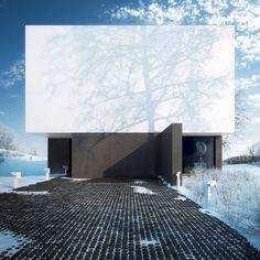 Slanted by Michal Nowak Outstanding modern, luxury house! Architecture Design, Scandinavian Architecture, Minimalist Architecture, Facade Design, Beautiful Architecture, Contemporary Architecture, House Design, Design Design, Interesting Buildings