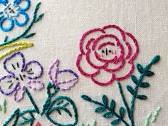 Alice's Garden Embroidery Pattern from Little Dorrit & Co. | Sew Mama Sew | Bringing you outstanding sewing, quilting, and needlework tutorials since 2005.
