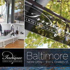 Indique Baltimore is now open!  910 S Charles St Baltimore, MD 21230 Phone: 410.864.8030 indiquehair.com/baltimore Brown Hair With Blonde Highlights, Virgin Hair Extensions, How To Make Hair, Wig Hairstyles, Hair Care, Pure Products, Hair Wigs, Baltimore, Hair Styles