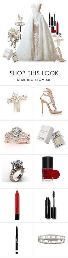 """Untitled #2784"" by fashion-nova ❤ liked on Polyvore featuring Wedding Belles New York, Giuseppe Zanotti, Allurez, Chloé, NYX, Bobbi Brown Cosmetics, Rimmel, Tiffany & Co., women's clothing and women"