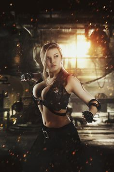 Oksana Orova as Sonya Blade (Mortal Kombat Cosplay)