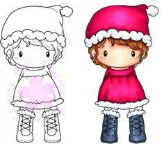 "C.C. Designs Swiss Pixie ""Santa Lula"" Rubber Stamp"
