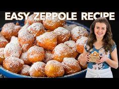 Easy Zeppole Recipe, Zeppoli Recipe, Italian Donuts, Italian Cookies, Appetizer Recipes, Dessert Recipes, Desserts, Appetizers, Easy Sweets