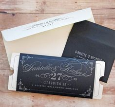 Formal Vintage Ticket  Theater Movie Primiere by LetterBoxInk, $6.50