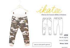 Patron de couture Pantalon Jogging Enfant Garçon JIM 3-8 – ikatee