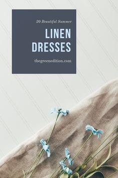 20 beautiful ethical and sustainable linen dresses that can be worn in summer or layered up for the rest of the year. Featuring lots of hand made designs from makers. Ethical Fashion Brands, Ethical Clothing, Sustainable Clothing, Sustainable Fashion, Sustainable Style, Vegan Fashion, Slow Fashion, Minimal Shoes, Minimalist Fashion