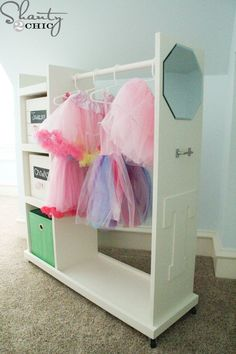 This DIY Dress Up Cart is fun to make and will save you a ton of money. Plus it is build to last! Blog includes directions and downloadable plans!