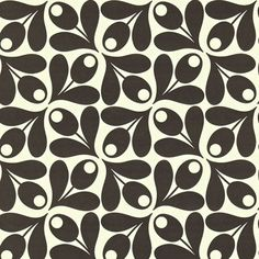 Orla Kiely | UK | House | Wallpaper | Small Acorn Cup Wallpaper (0WALACP501) | Ebony