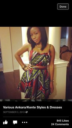 ankara bustier and skater skirt