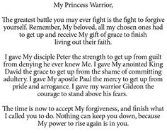 To My Princess Warrior
