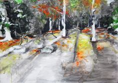 Moncayo. Carboncillo, acrílico sobre lienzo. Rosa  Álvarez