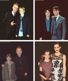 Harry Potter Stars - First and Last Movie Premiere Comparison Photos