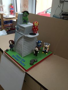 Finley's 4th Birthday Avengers Cake!