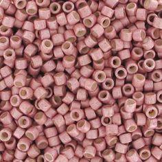 Miyuki Delicas 11/0 DB1156 - Galvanized Semi Mat Pink Blush