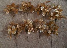 Holly sprig gold leaf sprig gold sprig gold by TillieLuvsTreasures
