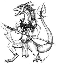 Drakkhen Mage (Aurak Draconian DL Monster Compendium 4