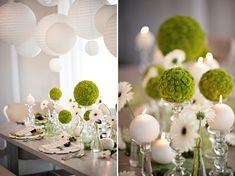 Modern Circle-Inspired Green & White Wedding Inspiration