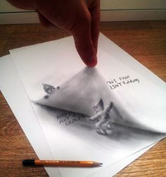 Drawings Realistic Illusions by Dutch Illustrator Ramon Bruin is a whole new level of hyperrealistic art. Ramon makes drawings using pencil and paper. Amazing Drawings, Realistic Drawings, Cool Drawings, Amazing Art, Drawing Faces, Illusion Drawings, Illusion Art, 3d Pencil Drawings, Pencil Art