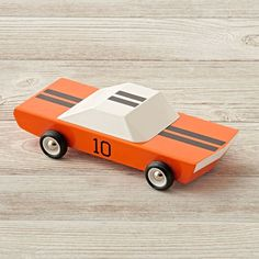 Inspired by the classic racecars, this wooden toy car is a throwback to the old-school, retro designs we love.