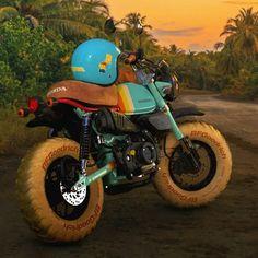 Honda 125, Custom Cafe Racer, Pit Bike, Bike Trails, The Simpsons, Vroom Vroom, Motorbikes, Monkey, Retro