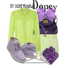 """Dopey"" by lalakay on Polyvore #disney"