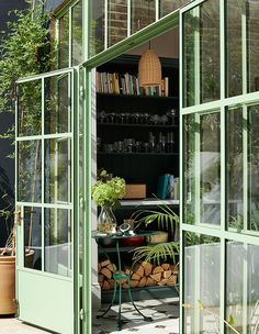 Crittal Doors, Crittall Windows, Wicker Pendant Light, Haus Am See, Devol Kitchens, Appartement Design, Chimney Breast, The Door Is Open, Basement Kitchen