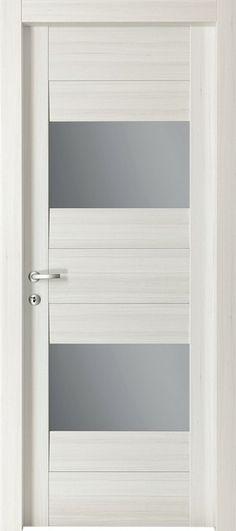 Contemporary Interior Doors white primed contemporary 4 lite pre-glazed (40mm) | internal