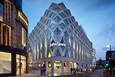 Diamond-shaped latticework covers Victoria Gate shopping centre by Acme
