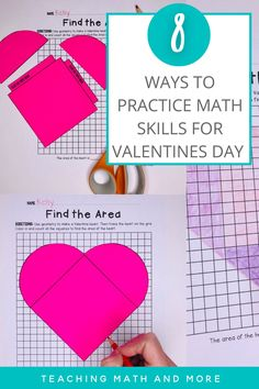 Ready for Valentine's Day? Try one of these eight math activiites with your middle school students. Kids love to make and find the area of a heart, solve shopping problems, and learn about the history of Valentine's day numbers. Download the math printables today!