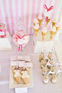 Ice cream dessert table