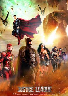 Liga da Justiça: Unindo os Setes (2017, Pôster).