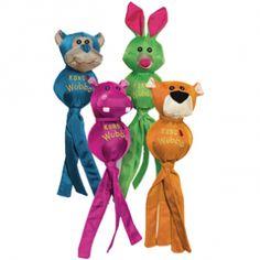 """Kong """"wubba ballistic friend""""  Parfait pour le   lancer/rapporter -Couine pour encore plus de plaisir -Ne pas utiliser comme jouet à mâcher -Disponible en 4 personnages amusants : panthère orange, lapin vert, hippopotame rose et singe bleu (selon arrivage) -Dimensions :  - S : 24cm - L : 34 cm - XL : 44 cm -  14.90e"""