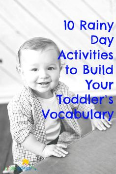 10 Rainy Day Activities to Build Your Toddler's Vocabulary Winter Activities For Kids, Rainy Day Activities, Games For Toddlers, Toddler Activities, Kids Fun, Educational Activities, Learning Activities, Kids Learning, Kindergarten Activities