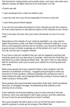 To make black salt page 1