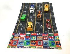 Grab and Go Car Mat and Carrier / Play mat / travel toy / Car Caddy Roll up / Car Wallet