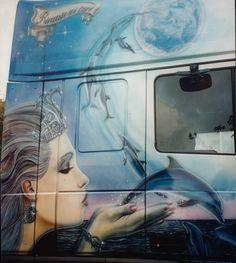 Airbrush, Murals, Trucks, Painting, Cars And Trucks, Wall Murals, Painting Art, Track, Paintings