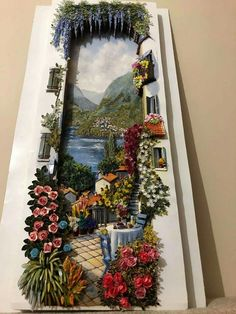 Nış icin Clay Wall Art, Clay Art, Picture On Wood, Picture Wall, Craft Room Decor, Art Corner, Polymer Clay Projects, Illustrations And Posters, Paper Quilling