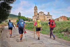 Arriving in Castrojeriz, Camino de Santiago, Castilla-Leon, Spain
