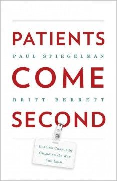 Patients Come Second (BOOK)--Shakes up the traditional healthcare model, arguing that in order to care for and retain patients, leaders must first create exceptional teams and find ways to engage nurses, administrative staff, physicians, supervisors, and even housekeeping staff and switchboard operators. By connecting employees' work with a higher purpose and equipping them with the tools to become leaders themselves, patient care can be dramatically transformed.